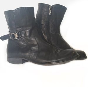 Alberto Fermani Black Italian Leather Boots 8